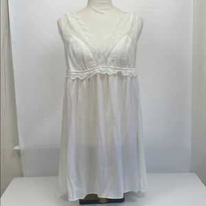 Gap Bridal PJ Nighty with Thong Lace Large NWT